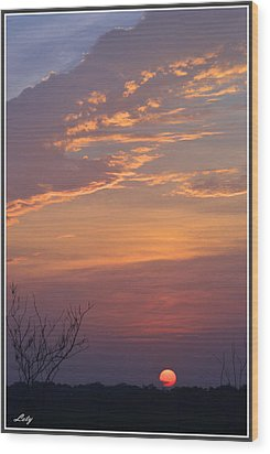 Smooth Sunset Wood Print by Leticia Latocki