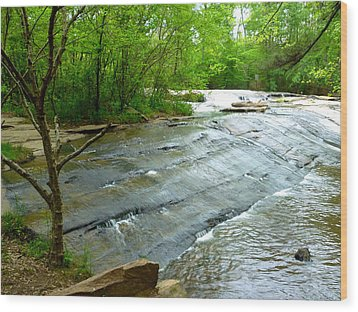 Wood Print featuring the photograph Smooth Waterfall by Pete Trenholm