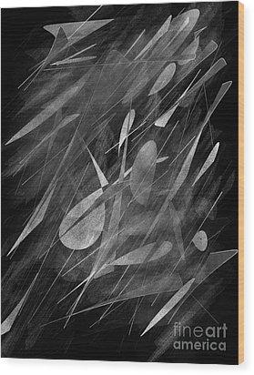 Smudges Wood Print by John Krakora