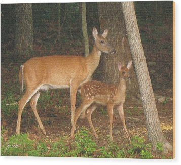 Smudgie And Fawn Pastel Wood Print