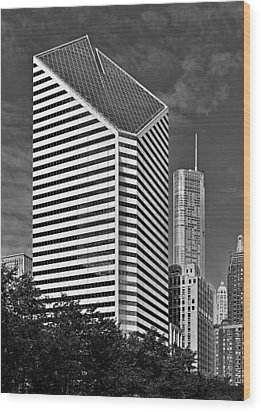 Smurfit-stone Chicago - Now Crain Communications Building Wood Print by Christine Till