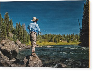 Snake River Cast Wood Print by Ron White