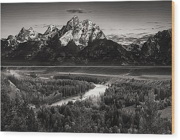 Snake River View Wood Print by Andrew Soundarajan
