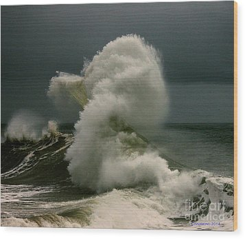 Snake Wave Wood Print by Michael Cinnamond