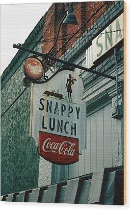 Snappy's Wood Print by Steve Godleski