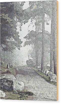 Snicket Fog Wood Print