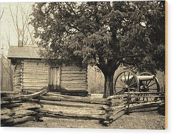 Snodgrass Cabin And Cannon Wood Print