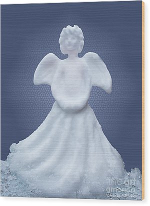 Snow Angel Wood Print by Barbara McMahon