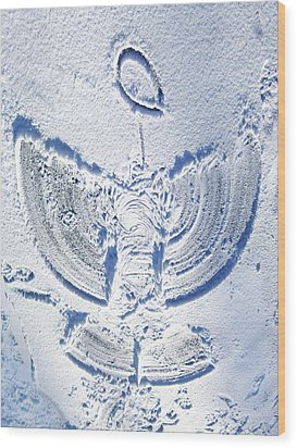 Snow Angel Wood Print
