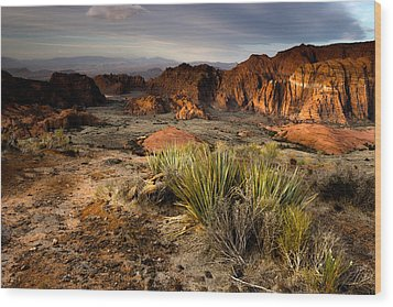 Snow Canyon Sunrise Wood Print by Eric Foltz