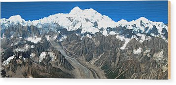 Snow Capped Canyon Wood Print
