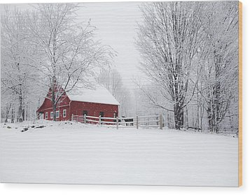 Snow Country Wood Print by Robert Clifford