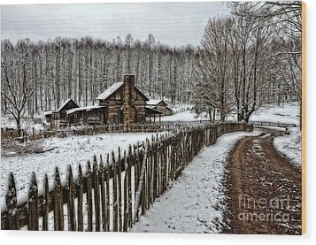 Wood Print featuring the photograph Snow Covered by Brenda Bostic