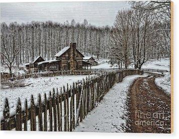 Snow Covered Wood Print by Brenda Bostic