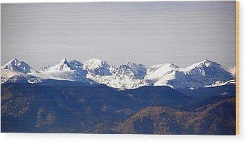 Snow Covered Indian Peaks Wood Print