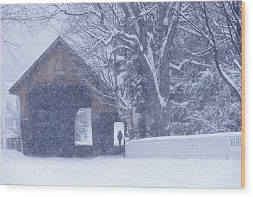 Snow Day Wood Print by Alan L Graham