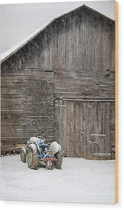 Snow Day Wood Print by Cecile Brion