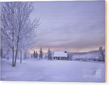 Wood Print featuring the photograph Snow Day by Kristal Kraft