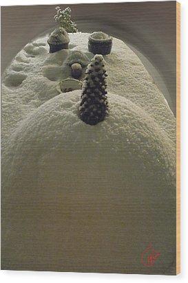 Snow Fall Serie December 2012 Wood Print by Colette V Hera  Guggenheim
