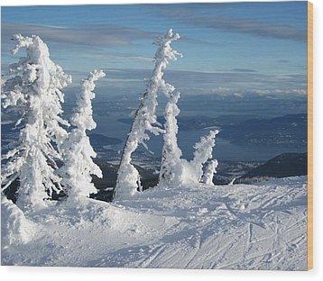 Snow Ghosts 1 Wood Print