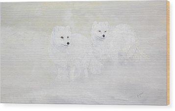 Snow Ghosts Of The North Wood Print by Johanna Lerwick