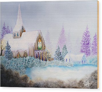 Snow In Florida Wood Print by David Kacey