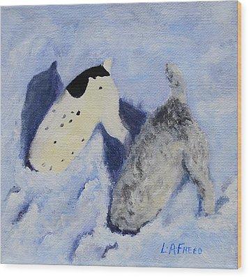 Snow Jacks Wood Print by Linda Freed