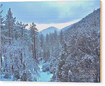 Snow Magic Wood Print