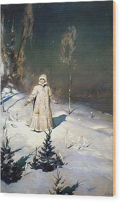 Snow Maiden 1899 By Vasnetsov  Wood Print by Movie Poster Prints