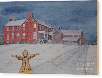 Snow On Cashtown Road Wood Print