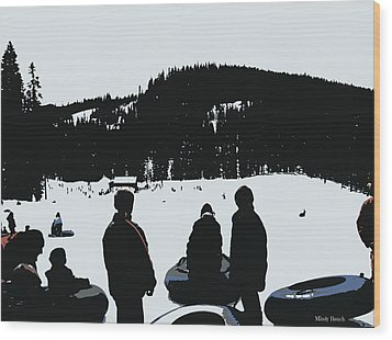 Wood Print featuring the photograph Snow Park Fun  by Mindy Bench