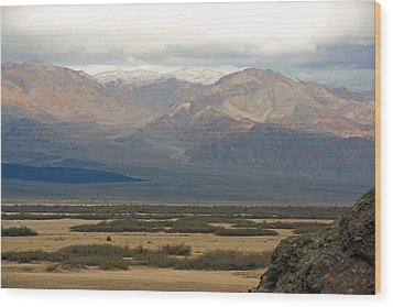 Wood Print featuring the photograph Snow Peaks by Stuart Litoff