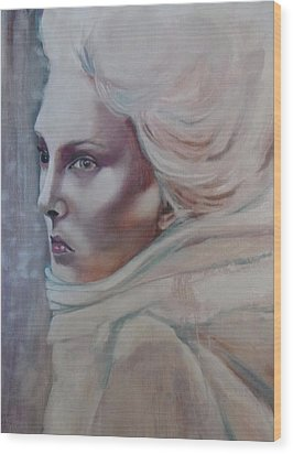 Wood Print featuring the painting Snow Queen by Irena Mohr