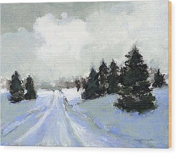 Snow Scene Wood Print