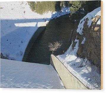 Snow Slide Wood Print by Jewel Hengen