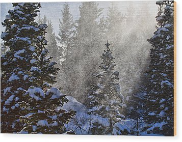 Snow Squalls Wood Print by Jim Garrison