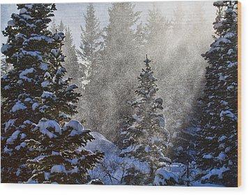 Snow Squalls Wood Print by Jim Garrison