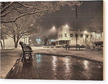 Snow Square - Color Wood Print
