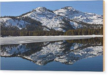 Snow Top Wood Print by Michael Brown