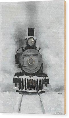 Snow Train Wood Print