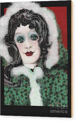 Snow White Winter Wood Print by Carol Jacobs