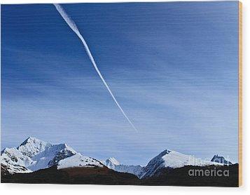 Snowbird Express Wood Print