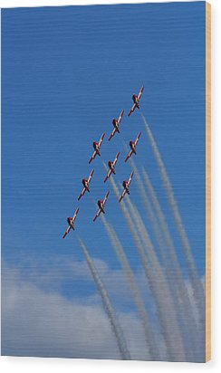 Snowbirds Performing Wood Print by Matt Dobson