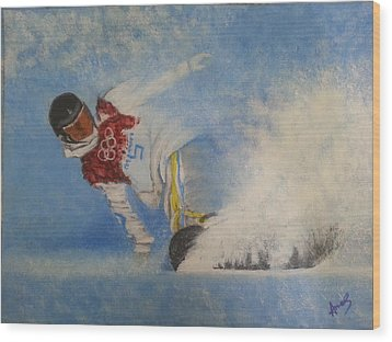 Snowboarder Wood Print