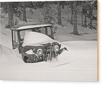 Wood Print featuring the photograph Snowed In by Barbara West