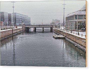 Winter Bridge Wood Print by EXparte SE