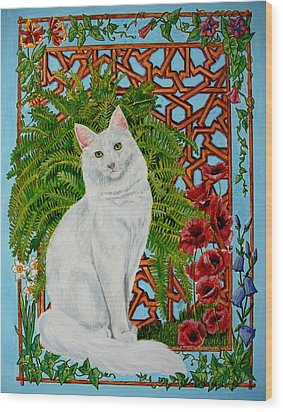 Snowi's Garden Wood Print