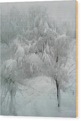 Snowland Wood Print by Kume Bryant