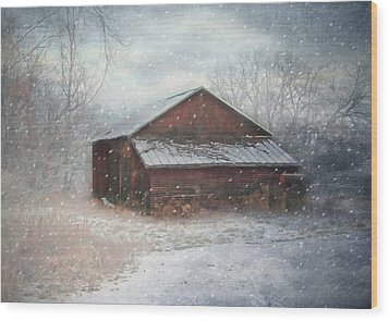 Snowland Wood Print by Mary Timman