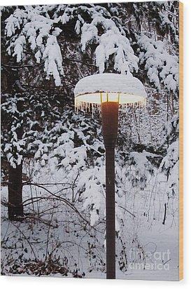 Snowlight Wood Print by Avis  Noelle